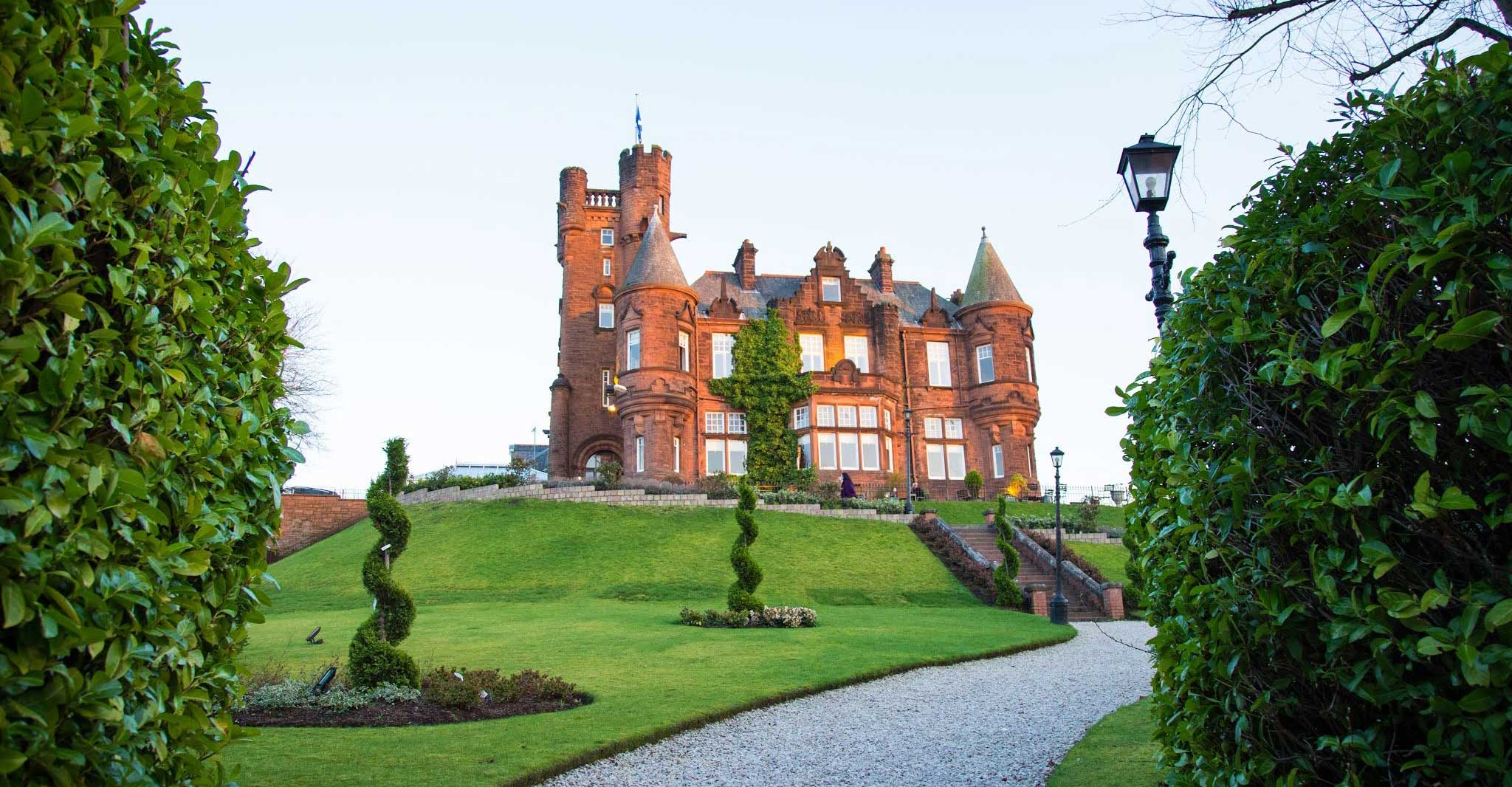Baronial style castle in Scotland
